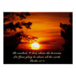 Above The Earth Sunset poster