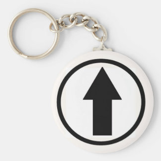 Above the influence - Black. Basic Round Button Keychain