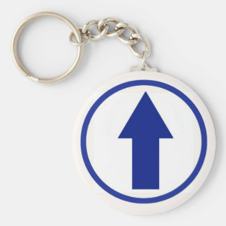 Above the influence - Blue Basic Round Button Keychain