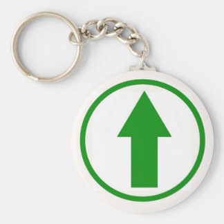 Above the influence - Green Basic Round Button Keychain