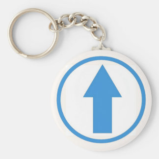 Above the influence - Light Blue Basic Round Button Keychain