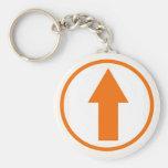 Above the Influence - Orange Basic Round Button Keychain