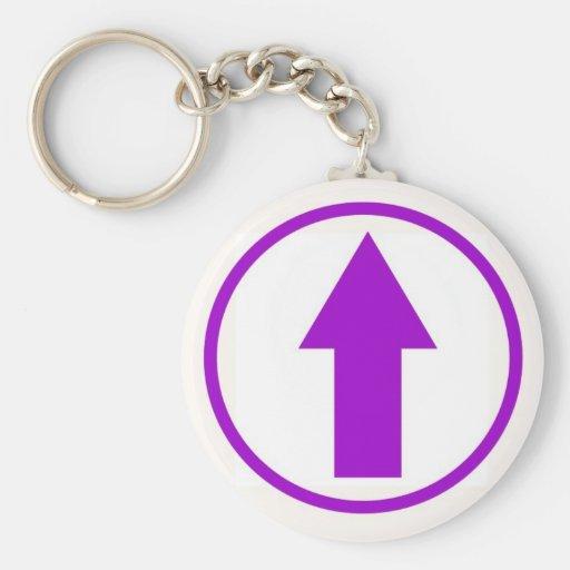 Above the influence - Purple Basic Round Button Keychain