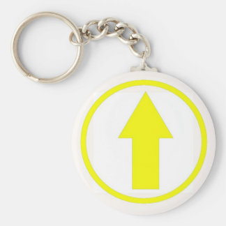 Above the influence - Yellow Basic Round Button Keychain