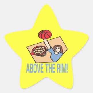 Above The Rim Star Sticker
