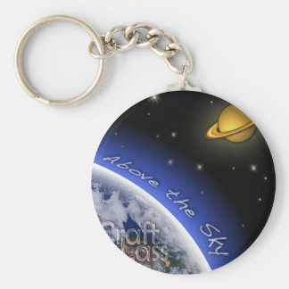 Above the Sky Basic Round Button Keychain