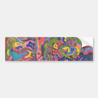 """Above the Storm"" Abstract Art Car Bumper Sticker"
