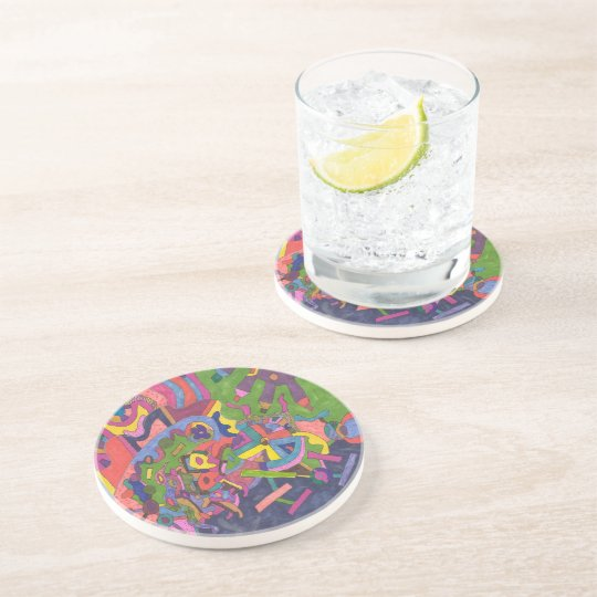 Above the Storm, original abstract art Drink Coaster