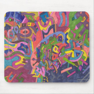 Above the Storm, original abstract art Mouse Pad