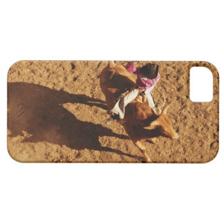 Above View of a Cowboy Riding a Bull iPhone 5 Cover