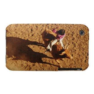 Above View of a Cowboy Riding a Bull iPhone 3 Cover