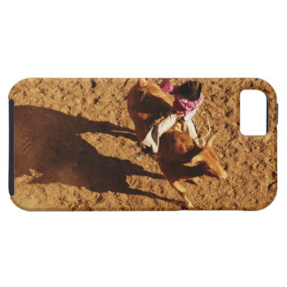 Above View of a Cowboy Riding a Bull iPhone SE/5/5s Case