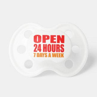 Abra 24 horas chupetes para bebés