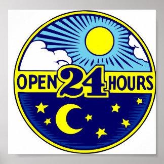 Abra 24 horas de Sun y luna Póster