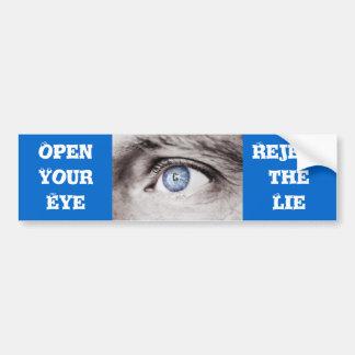 Abra a su pegatina para el parachoques del ojo pegatina para auto