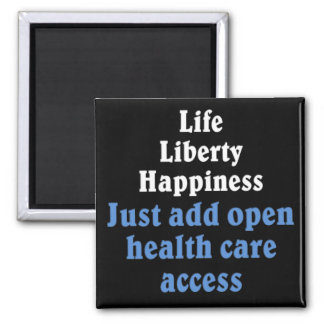 Abra el acceso 2 de la atención sanitaria imán cuadrado