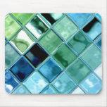 Abra el arte de cristal Mousepad del mosaico de la Tapetes De Ratones