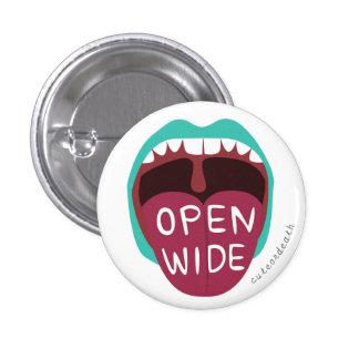 Abra el botón ancho pins