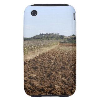 Abra el campo, Townscape en el fondo, iPhone 3 Tough Carcasa