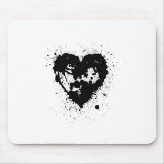 Abra el corazón de Splat de la tinta Alfombrilla De Ratones