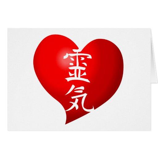 Abra el corazón Reiki Tarjeta De Felicitación