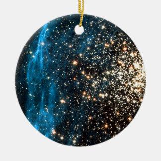 Abra el cúmulo de estrellas NGC 1850 en la Adorno Navideño Redondo De Cerámica