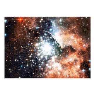 Abra el cúmulo de estrellas NGC 3603 en la nebulos Invitación