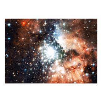 Abra el cúmulo de estrellas NGC 3603 en la nebulos Invitaciones Personalizada