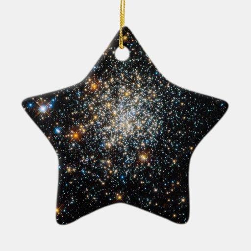 Abra el cúmulo de estrellas NGC 411 Adorno Navideño De Cerámica En Forma De Estrella