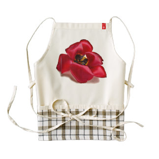 Abra el delantal del tulipán delantal zazzle HEART
