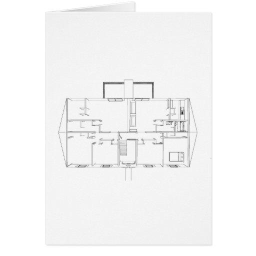 Abra el dibujo de Floorplan: Tarjeta De Felicitación