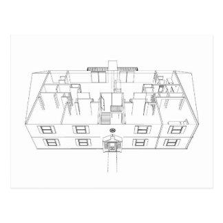 Abra el dibujo de Floorplan: Tarjeta Postal