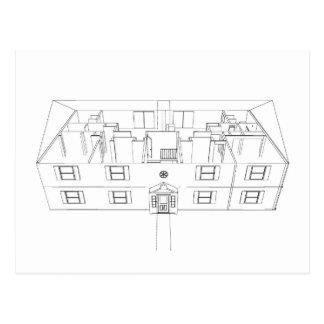 Abra el dibujo de Floorplan: Tarjetas Postales