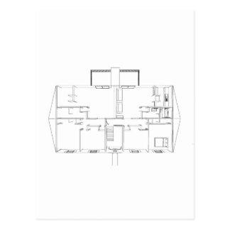Abra el dibujo de Floorplan: Postales