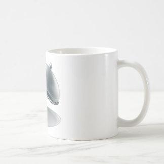 Abra el disco de plata tazas de café