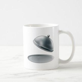 Abra el disco de plata tazas