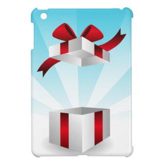 Abra el fondo rojo del cumpleaños de la caja de