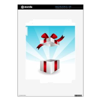 Abra el fondo rojo del cumpleaños de la caja de iPad 2 calcomanías