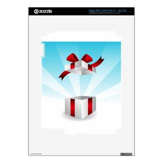 Abra el fondo rojo del cumpleaños de la caja de iPad 3 pegatina skin