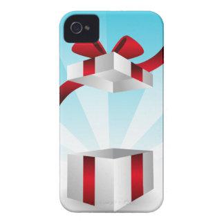 Abra el fondo rojo del cumpleaños de la caja de iPhone 4 Case-Mate cárcasas
