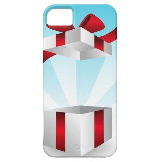 Abra el fondo rojo del cumpleaños de la caja de iPhone 5 carcasa