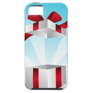 Abra el fondo rojo del cumpleaños de la caja de iPhone 5 fundas