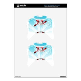 Abra el fondo rojo del cumpleaños de la caja de mando xbox 360 calcomanía