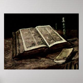 Abra el libro con las velas - Van Gogh de la Póster