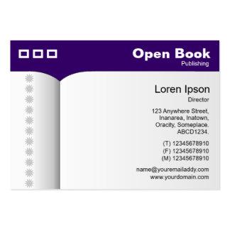 Abra el libro - Deep Purple 330066 Plantilla De Tarjeta De Negocio