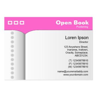 Abra el libro - FF66CC rosado Plantillas De Tarjeta De Negocio