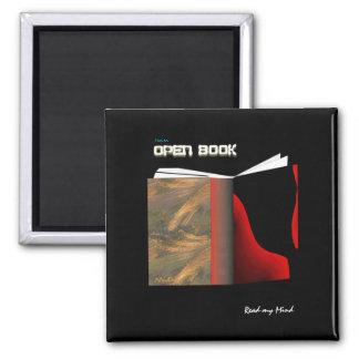 Abra el libro imán cuadrado