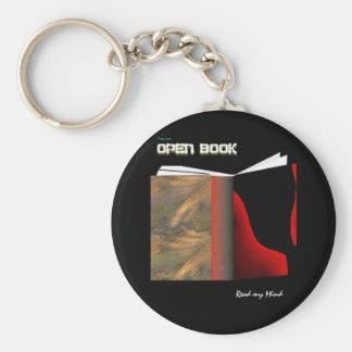 Abra el libro llavero personalizado