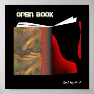 Abra el libro póster