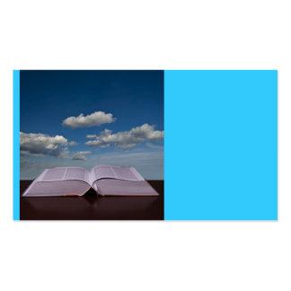 Abra el libro y el cielo plantilla de tarjeta personal